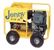 Cold water gas engine power washer, Jenny