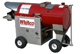 Whitco PEO series, diesle fired hot power wash